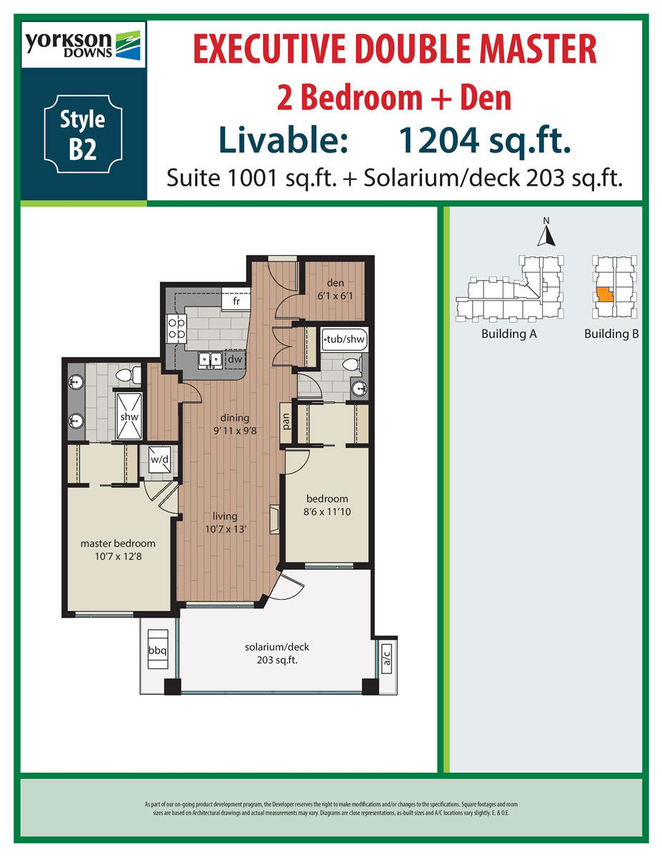 2 Bedroom + Den Plans | Yorkson Downs on